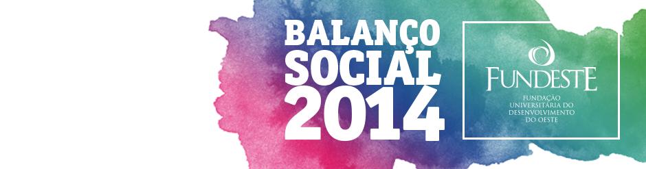 Fundeste - Balanço Social 2014