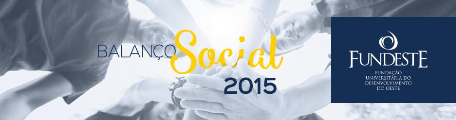Balanço Social 2015